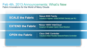 February 4, 2013 Cisco Announcement